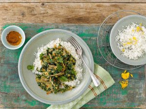 Schnelles Lamm-Spinat-Curry zu Basmatireis 32