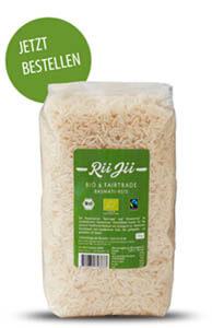 Rii Jii Bio & Fairtrade Basmati Reis. Weiß und geschält.