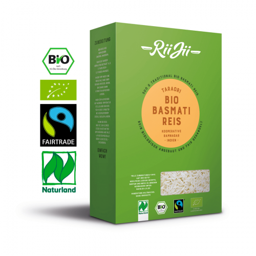 Bio-Basmati Reis, weiß (500g) 1