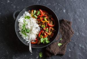 Rinderfiletspitzen mit Gemüse und Basmati-Reis 1
